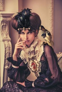 "Saatchi Art Artist Miss Aniela; Photography, ""Portrait with Pigeon & Poultry, 1/10, small edition"" #art"