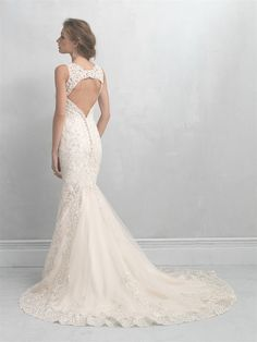 Allure Bridals: Style: MJ15; (back)