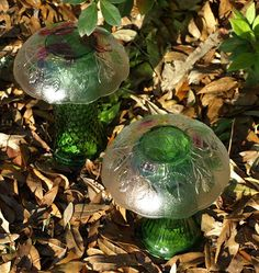 The ART and Musings of ShellyRaeWood: Glass Garden Totems and more....