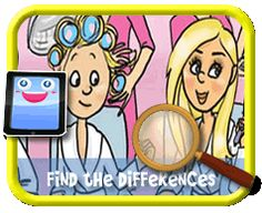 Beauty Salon - Find the Differences Game for Kids Find The Differences Games, Hidden Pictures, Different, Games For Kids, Kids Playing, Activities, Beauty, Games For Children, Hidden Images