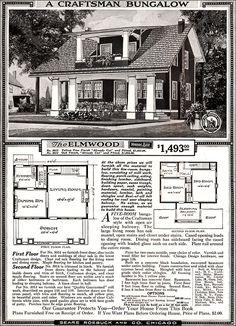Elmwood - 1918 Sears Kit Homes - Honor Bilt - Craftsman Bungalow