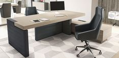 JERA Office desk with shelves by Las Mobili Modern Executive Desk, Executive Office Furniture, Modern Office Desk, Home Office Decor, Home Decor, Office Table Design, Office Interior Design, Office Interiors, Home Interior
