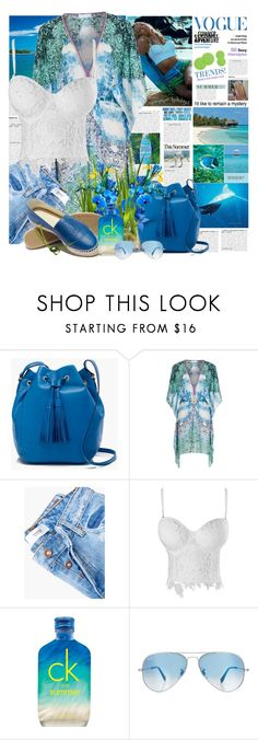 """""""It Feels Like Summer"""" by summersunshinesk7 ❤ liked on Polyvore featuring J.Crew, ELIZABETH HURLEY beach, MANGO, Calvin Klein, Lauren Ralph Lauren and Ray-Ban"""