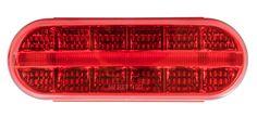 "Red/Red Oval Prime Spyder LED Light 12V 6"" Stop/Turn/Tail"
