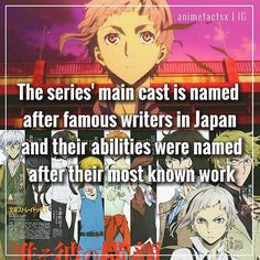 Bungou Stray Dogs. Part of the reason I love this series.