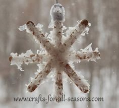 wooden snowflake craft
