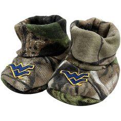 West Virginia Mountaineers Infant Realtree Camo Booties