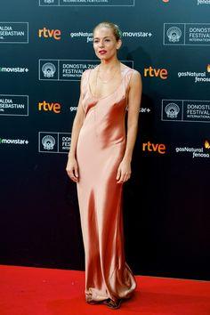 Best dressed - Sienna Miller in a Galvan pink dress