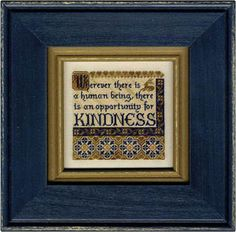 Erica Michaels - Kindness - More Bits of Wisdom (with fabric) [EMD131382] - $18.00 : Laurels Stitchery, The best little stitchery shop on the internet!