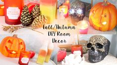 Hello my little pumpkins! Here are some quick DIY tumblr/pinterest inspired room decors which will add that magical fall atmosphere to your rooms! If you enjoyed it then give this video a thumbs up and subcribe! Thank you for watching! - Roxi ♡My Links♡. Diy, Decor, Room,