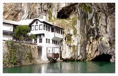 Blagaj, Buna ~ finest example of an underground karst river. It flows out of a 200m cliff wall & single-handedly creates the Buna River. Unsurprisingly, Ottoman sultan was impressed & ordered a tekija to be built right next to it. 16th century house/monastery was built for the Dervish cults & is still one of the most mystical places in all of Bosnia & Herzegovina. Open to visitors all year round & serves cold drinks, tea & Turkish coffee in a beautiful garden overlooking the source of the…