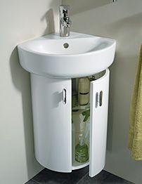 Ideal Standard Concept 38cm Wall Hung Corner Basin Unit - White