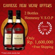 Imlek 2015 promo. Chinese New Year 2015 offers. 2 bottles Hennessy VSOP. http://www.bottlerepublic.co.id/