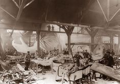 Statue Of Liberty Under Construction in Paris in 1884