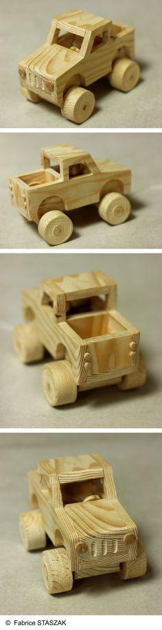 Big Wheel Truck. Wood toy. Car toy. Voiture jouet en bois. #BigWheelTruck #…