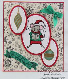 Stampin Up, #thecraftythinker, #crazycraftersbloghop, Stitched Shapes, Christmas Card, Xmas, Merry Mice, Forever Evergreen