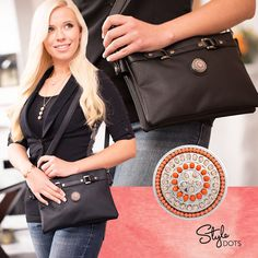 Our trendy Hip Bag - Black makes even more of a fashion statement with the addition of our Orange Captivate - Statement Dot.