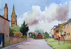 Leicestershire watercolours - Tur Langton