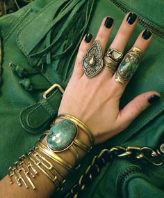 Emerald tones and brass