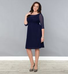 Plus Size Dresses - Morgan Mesh Dress - Kiyonna