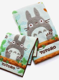 BoxLunch : Studio Ghibli My Neighbor Totoro Towel Set Disney Pixar Up, Disney Tangled, Disney Winnie The Pooh, Totoro Nursery, Baby Bathroom, Bathroom Ideas, Disney Kingdom Hearts, Deep Thinking, Star Wars Boba Fett