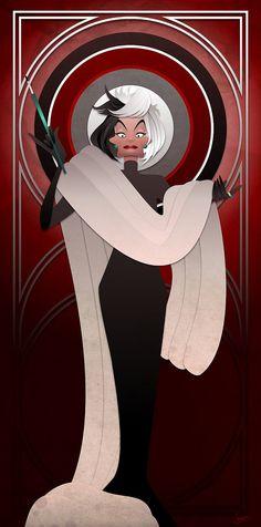 Disney Villains Series Cruella de Vil by JonMendez on Etsy
