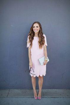 Pink Scalloped Dress Styling