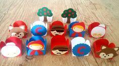 Festa personalizada chapeuzinho vermelho em scrap