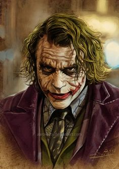 Heath Ledger JOKER by aaron wty