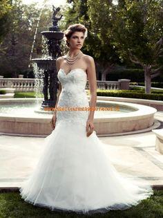 2013 Wunderschöne Luxuriöse Brautkleider aus Organza und Satin Meerjungfrau Herzausschnitt