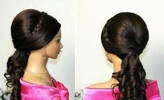Wedding prom hairstyles for long hair. Праздничная прическа на длинные в...