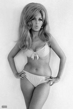 60's bikini. Damn. Before photoshop and our cultures horrible twisted ideas of what beauty is and what women should be.  Lets go back to when ANYONE could wear a bikini.