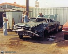 Image result for wrecked classic cars