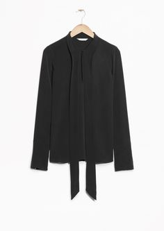 & Other Stories | Scarf Collar Silk Blouse