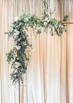 Wedding flowers eucalyptus greenery wedding arch copper arbor industrial wedding romantic wedding