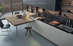 Phoenix CR&S Varenna An exclusive model where all the kitchen units are inspired by pure and essential lines to achieve a rigorous design project.