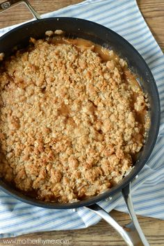 Skillet Salted Caramel Apple Crisp- Made this for the family- It was AMAZING! And really not so difficult or time consuming. I would definitely recommend eating it right away so the caramel doesn't crystalize.