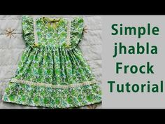 Simple baby jhabla frock cutting and stitching Baby Girl Frocks, Frocks For Girls, Little Girl Dresses, Baby Dresses, Kids Frocks Design, Baby Frocks Designs, Baby Dress Patterns, Sewing Patterns Girls, Simple Frocks