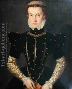 Katharina van Hemessen:Portrait of the Blessed Margaret of Lorraine Renaissance Mode, Renaissance Clothing, Renaissance Fashion, 16th Century Clothing, 16th Century Fashion, 17th Century, Historical Costume, Historical Clothing, Mode Rococo