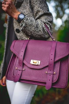 GiGi New York | Wine Hayden Satchel | Sequins and Things Fashion Blog