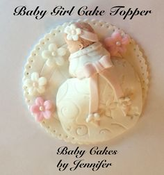 FONDANT BABY SHOWER Cake topper first by BabyCakesByJennifer, $15.00