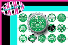 Girl Scout Bottle Caps~