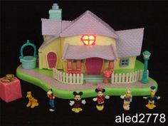 Disney Vintage Polly Pocket Minnie Mouse Surprise Party Light-up Playset 100% | eBay