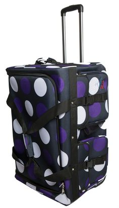 Rac n Roll Purple Polka Dots
