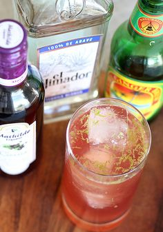 El Diablo (Cocktail) | This devilish-yet-heavenly combination of lime juice, cassis and tequila, all topped with ginger beer is sneakily strong and beautifully colored! #Cocktail #Tequila