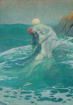 """""""The Mermaid"""" by Howard Pyle."""