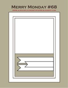 April Card Challenge - Sketch - Scrapbook.com