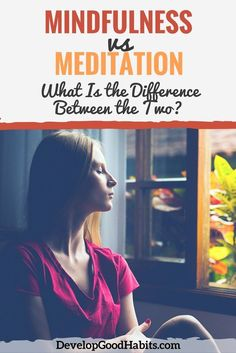 Mindfulness vs. Meditation: The difference between Meditation and living mindfully. Understand the fine difference between these two self awareness activities and how they can help you live a better life