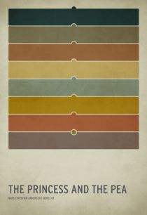"""The Princess and the Pea.  Interesting trend these days with the minimalist posters:  """"Hyper-minimalist poster designs of the classic children's stories we've grown to know and love."""""""