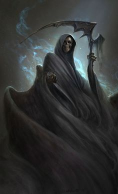 Beautiful Science Fiction, Fantasy and Horror art from all over the world. Grim Reaper Art, Grim Reaper Tattoo, Don't Fear The Reaper, Grim Reaper Images, Grim Reaper Quotes, Dark Fantasy Art, Dark Art, Arte Obscura, Skull Art